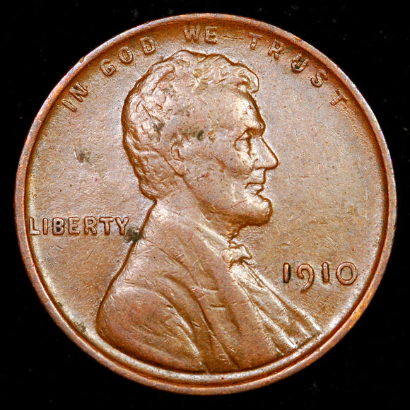1910-P Lincoln Cent: EF