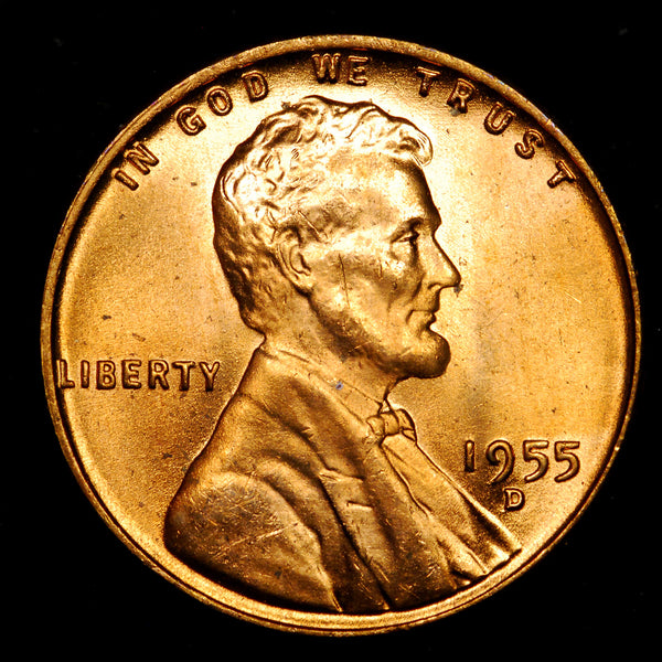 1955-D Lincoln Cent: Ch-GEM BU