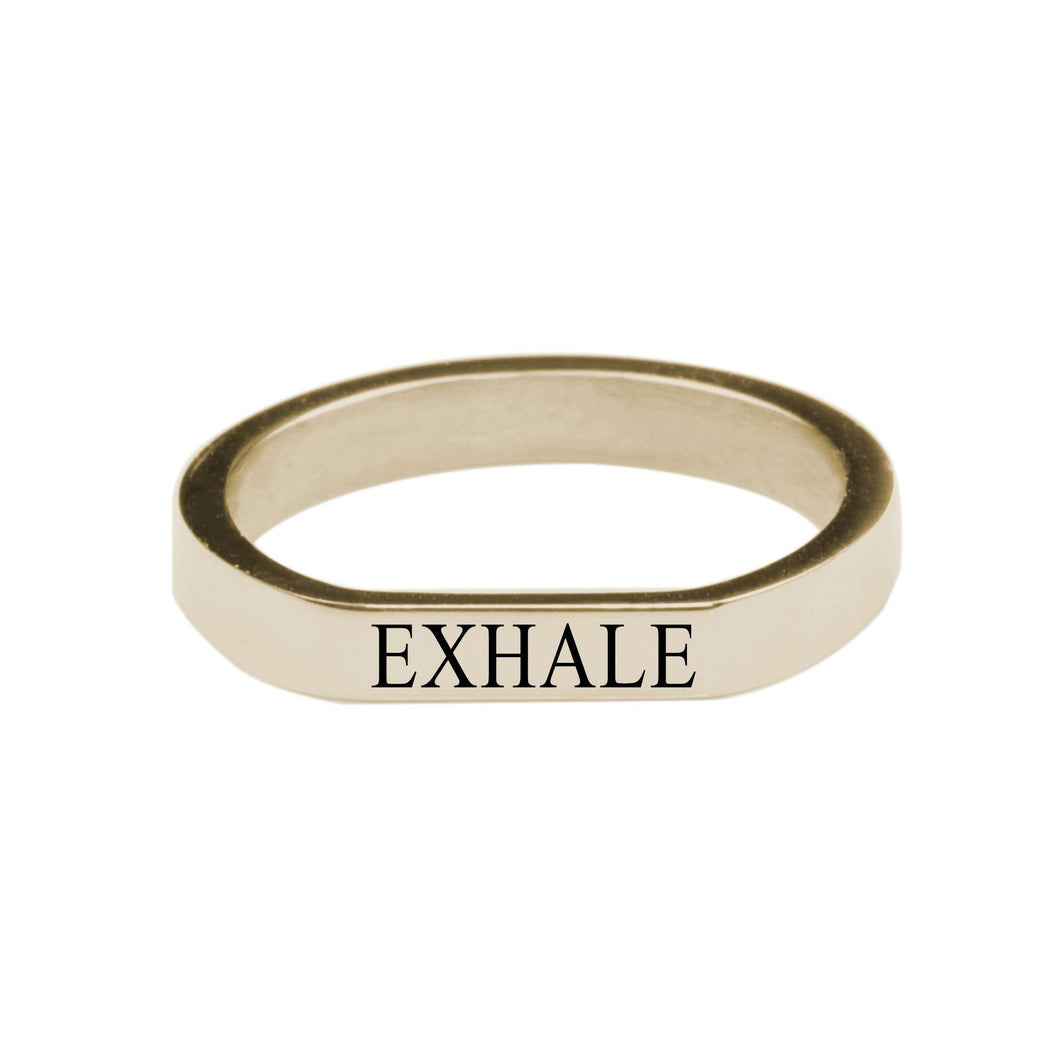Exhale Comfort Fit Flat Ring