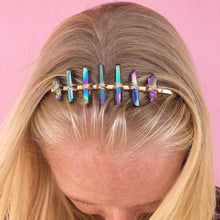 Load image into Gallery viewer, 7 stone quartz crystal headband