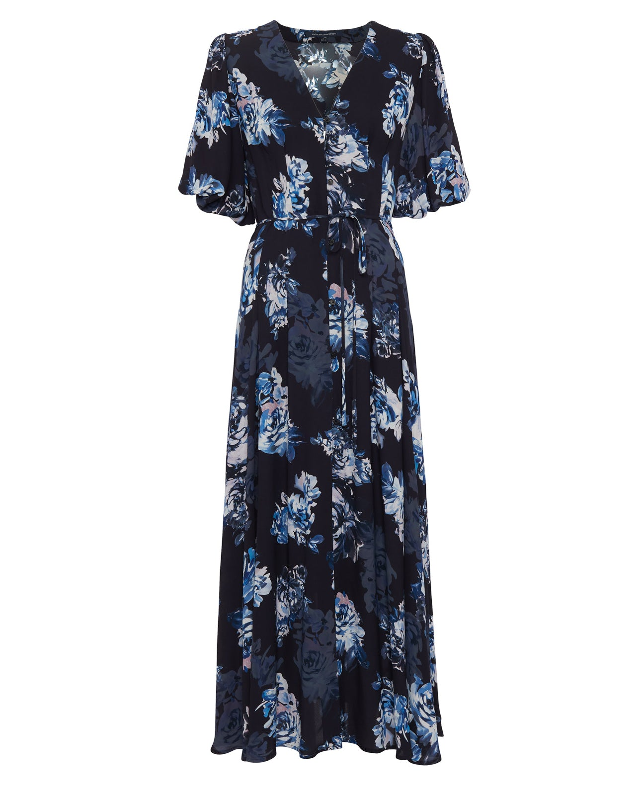 FRENCH CONNECTION CATERINA FLORAL MIDI DRESS