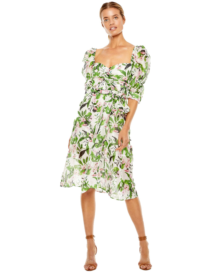 TALULAH DREAM TROPICAL MIDI DRESS