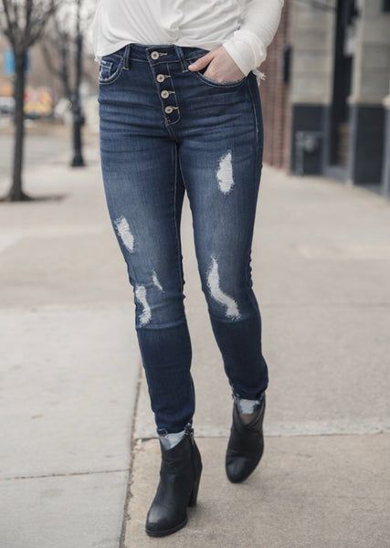 Stand Strong Distressed Denim