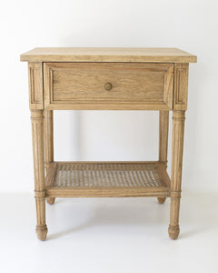 Bedside Table Hamilton - Weathered Oak - FREE SHIPPING