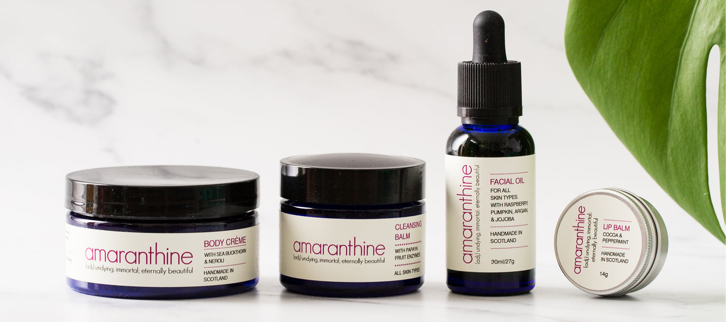 Photo of Amaranthine products.
