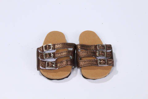 Casual Brown Buckle Sandals