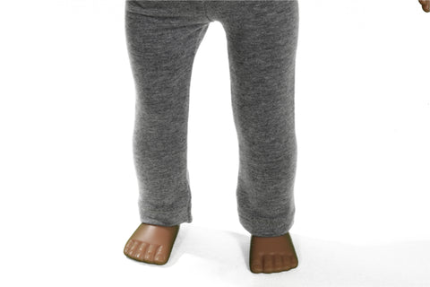 Soft Gray Jersey Leggings