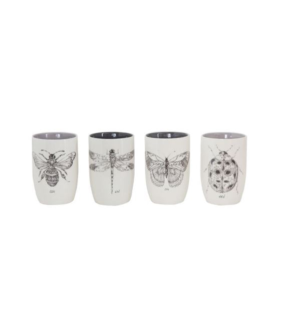 Stoneware Tumbler with Insects