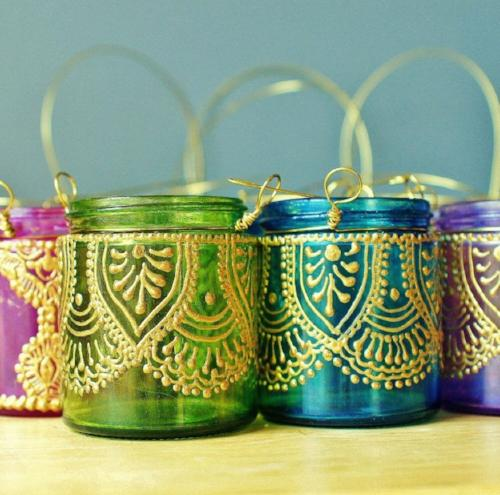 Wanderlust Hanging Tea Candle Lanterns - 4 Colors