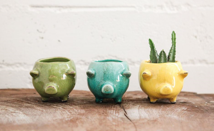 Terra-Cotta Pig Planter - 3 Colors