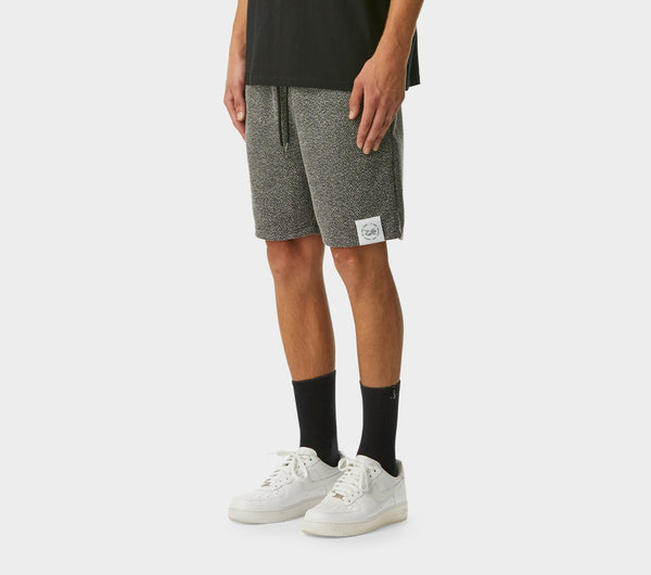 Textured Trackie Short - Black Speckle