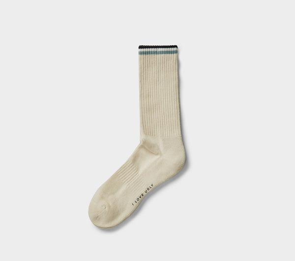 Striped Athletic Sock - Oatmeal