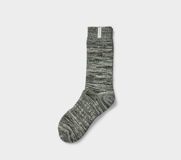 Speckled Sunday Sock - Oatmeal/Iceberg Green Multi
