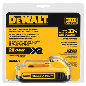 DeWALT 20V MAX* Compact XR Lithium Ion Battery Pack - DCB203