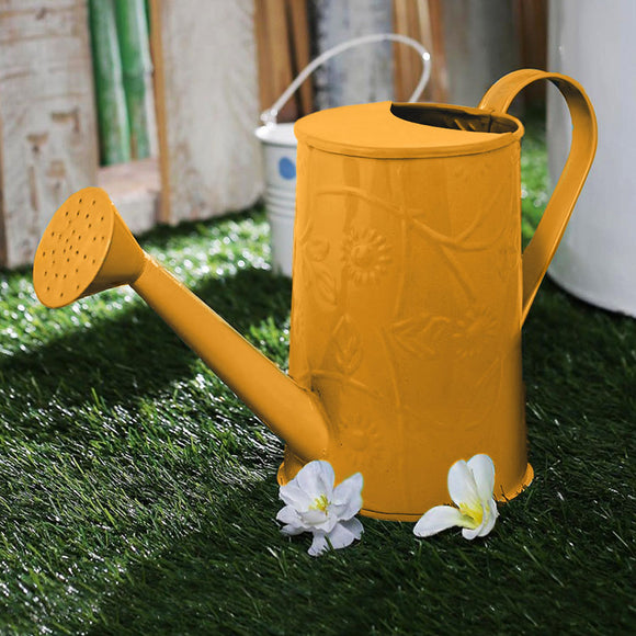 Embossed Watercane In Yellow Colour