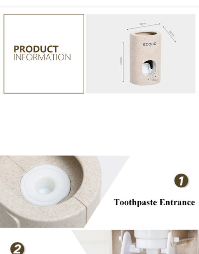 Automatic Toothpaste Dispenser Dust-proof Toothbrush Holder