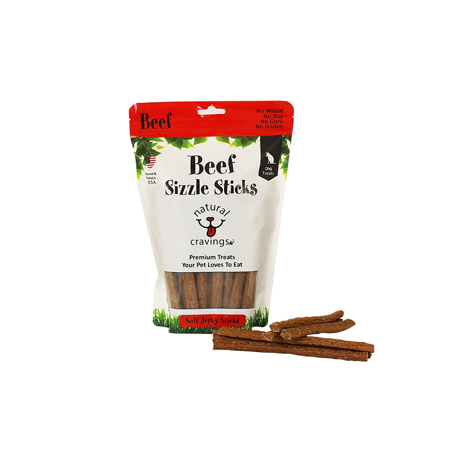 Natural Cravings Beef Sizzle Sticks Dog Treat - 16 oz.