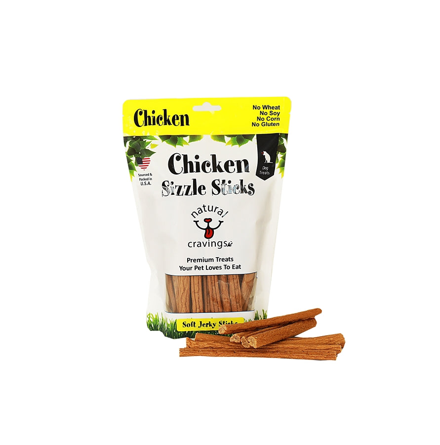 Natural Cravings Chicken Sizzle Sticks Dog Treat - 12 oz.