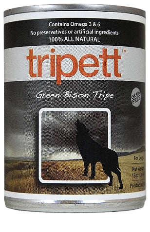 Tripett Green Bison Tripe for Dogs - 13 oz.