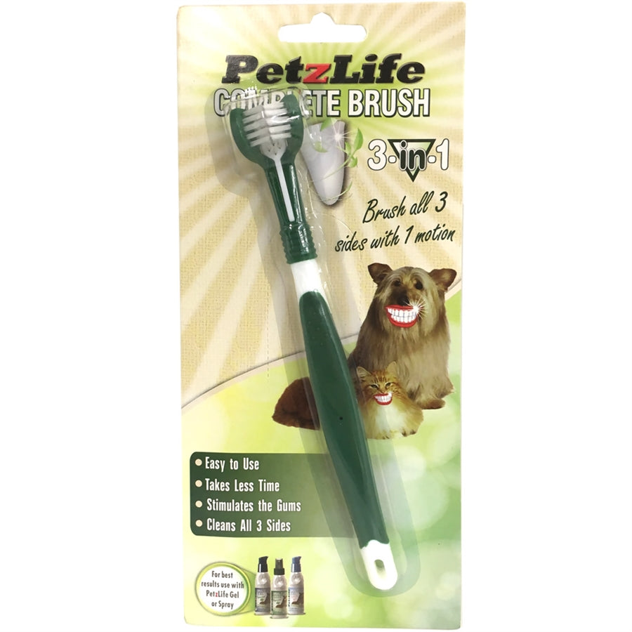PetzLife Complete 3 in 1 Toothbrush for Dogs