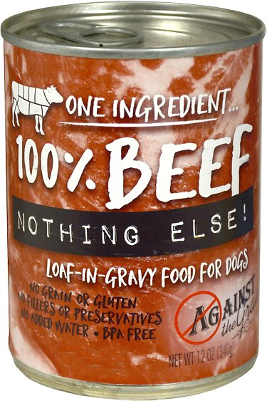 Against the Grain 100% Beef Nothing Else Dog Food -11 oz.
