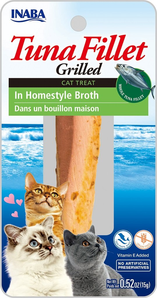 INABA Ciao Grilled Tuna Fillet in Homestyle Broth Cat Treat - 0.52 oz