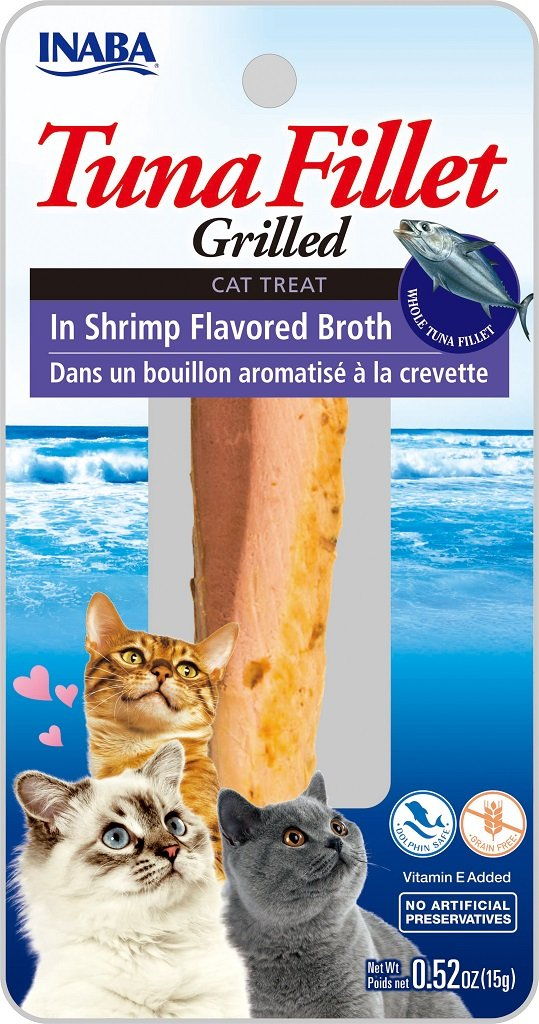 INABA Ciao Grilled Tuna Fillet in Shrimp Flavored Broth Cat Treat - 0.9 oz