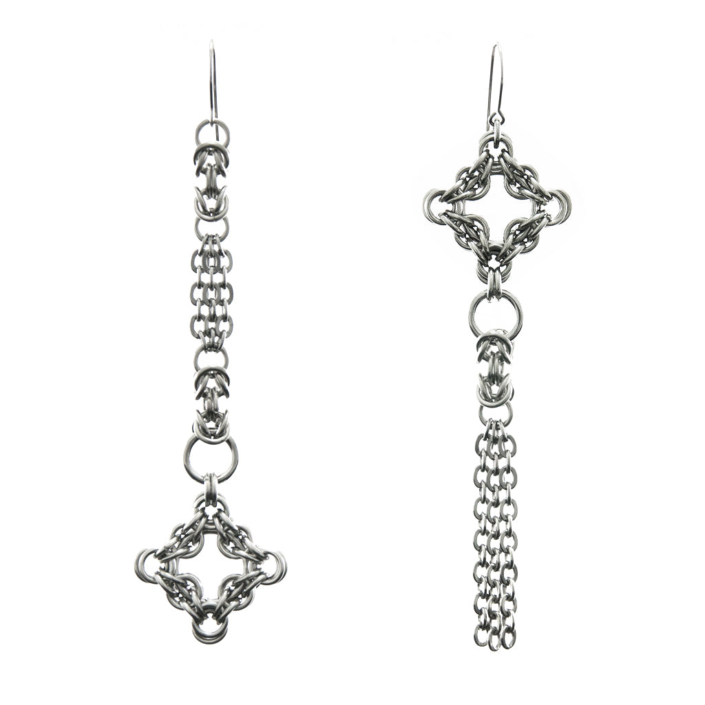 GOTHIC Long Asymmetrical Earrings
