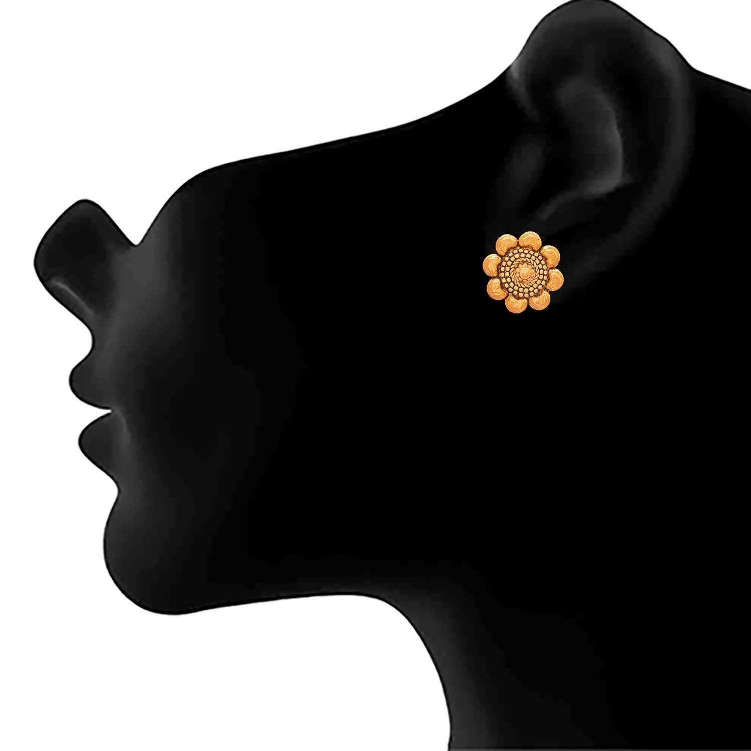 JFL- Traditional Ethnic One Gram Gold Plated Designer Stud Earring for Women