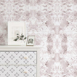 Malibu Wall Mural in Dusty Rose