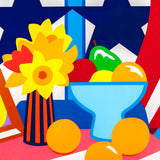 "TOM WESSELMANN ""STILL LIFE W BLOWING RED CURTAIN"" 1998"