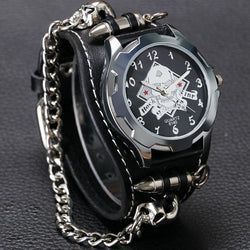 Skull Bullet Chain Gothic Style Watch