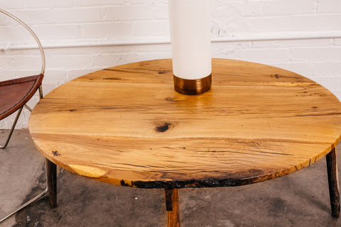 Live Edge Oval Coffee Table