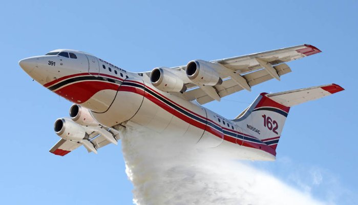 BAe 146/AVRO RJ airtankers keep putting out the flames
