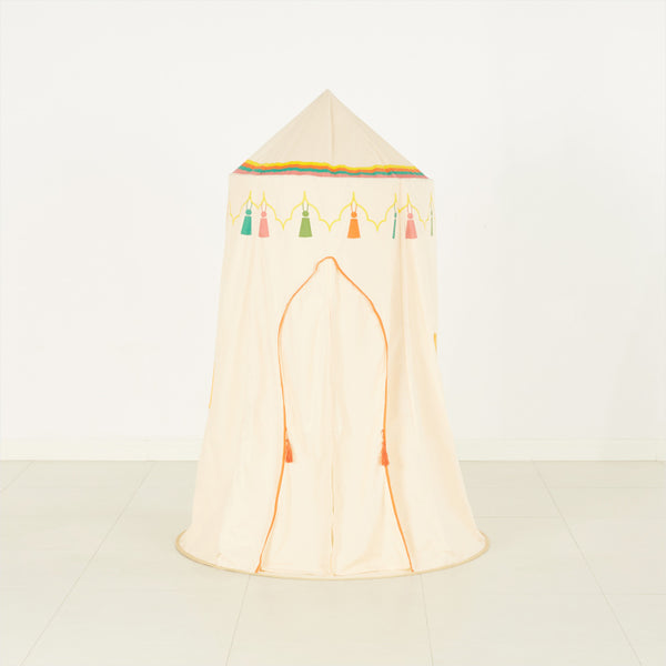 Embroidered Teepee Tent with Fringes