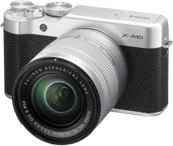 Fujifilm X-A10 Mirrorless Digital Camera Silver With XC 16-50mm Lens