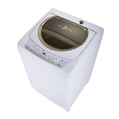 Toshiba Auto Washer, 10.0 Kg., Gold Panel, Metal Body,2 water inlets with pump