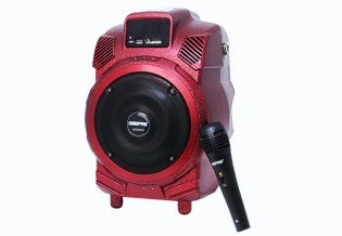 Rechble Prtble Spkr/Usb/Sd/Mp3/Fm/Mic1x2