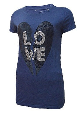 Gas Love Print Blue Tee