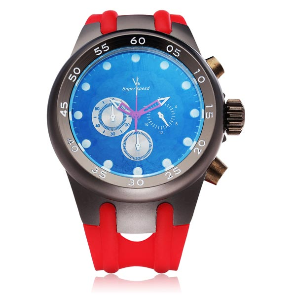 V6 V0200 Super Speed Sport 3 Dial Men Quartz Wrist Watch