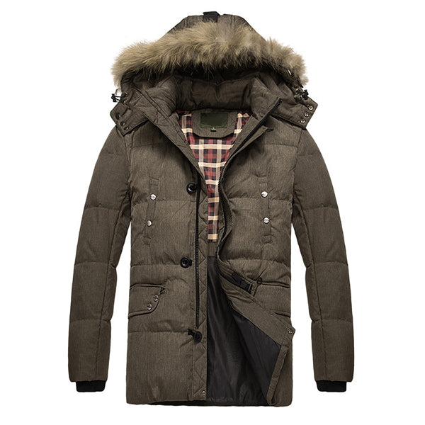 Winter Thick Warm Hooded Casual Insulated Down Jackets Puffer for Men