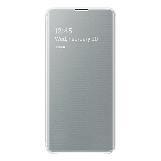 Samsung Clear View Flip Case White For Galaxy S10e
