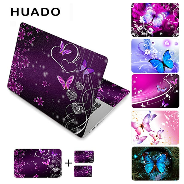 "Butterfly vinyl stickers laptop skin decals 11.6"" 12"" 13.3"" 15"" 14"" 15.6""17"" computer sticker"