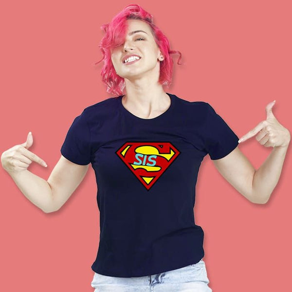 Super Sis Women'S Printed Half Sleeve T-Shirt