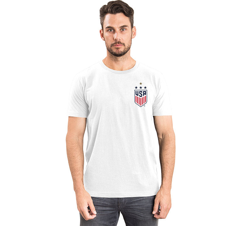 MEN'S 5TH&OCEAN WNT 4STAR LEFT CHEST TEE
