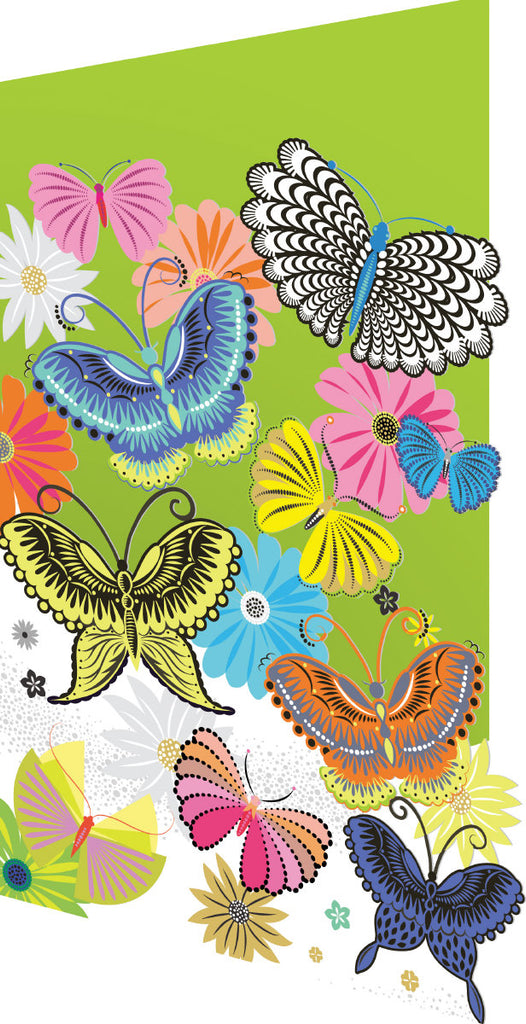 Roger la Borde Butterfly Sky Lasercut Card featuring artwork by Roger la Borde