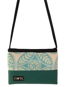 Seafoam Green purse with Fleece Fabric