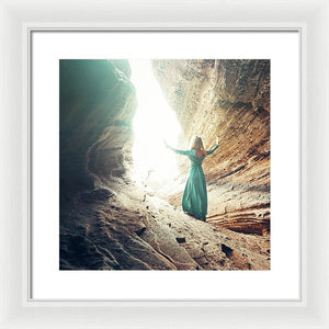 She Saw The Light - Framed Print