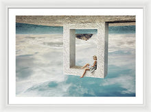 Load image into Gallery viewer, Young woman sitting in the stone frame upside down