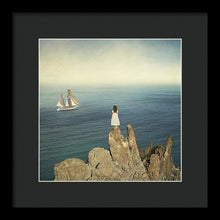 Load image into Gallery viewer, Woman On The Cliff - Framed Print